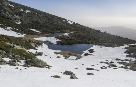 Hoyos de Pinilla entre la nieve